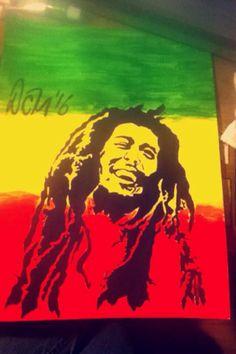 #bobmarley #Art #painting #acrylic #paint Bob Marley, My Arts, Painting, Painting Art, Paintings, Painted Canvas
