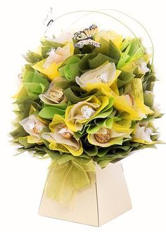 Our Yellow Daffodil Chocolate Bouquet; an ode to all that is spring! Visit www.thechocolateflorist.co.uk to find out more about our Chocolate Bouquets.