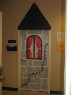decorate your office door as a castle