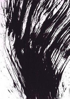"""Hans Hartung  """"El arte como practica instintiva, como grito, como acción, no tiene por objeto representar ni expresar sinó unicamente existir. El cuadro es un ser puramente, ya ni pretende adoptar formas abstractas."""" Marcel Brion"""