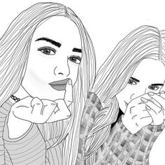 Best friend drawing best friend drawings best friends draw outlines untitled image by on com friend . Hipster Drawings, Bff Drawings, Easy Drawings, Drawing Sketches, Drawing Ideas, Tumblr Girl Drawing, Tumblr Drawings, Tumblr Art, Tumblr Outline
