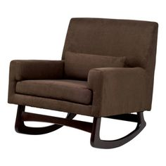 @Overstock - Snuggle in and rock baby to sweet slumber with the sublime Modern Rocker, highlighting a thick foam seat and an included lumbar pillow. The rocking action is certain to lull baby to sleep quickly, and the padded arms will help you do it comfortably.http://www.overstock.com/Home-Garden/Modern-Micro-Suede-Rocker-Chair-in-Mocha-with-Dark-Legs/7866847/product.html?CID=214117 $479.99
