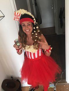 New Cost-Free Making popcorn # costume # popcorn # carnival # DIY Sty. New Cost-Free Making popcorn # costume # popcorn # carnival # DIY Style Making popcorn Pop Corn Costume, Costume Halloween, Purim Costumes, Cute Costumes, Carnival Costumes, Creative Halloween Costumes, Costumes For Women, Carnival Tent, Carnival Dress