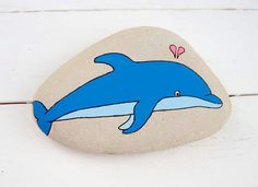 #Dolphin #Dolphins #Delfin #Delfine - Painting on Stone Painted Art on Sea Stones by KYMA - website: http://kymastyle.com - shop: http://kymastyle.dawanda.com - facebook/instagram/twitter: kymastyle - contact 4 orders + infos: kymastyle@yahoo.com