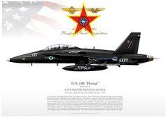 UNITED STATES NAVY NAVY FIGHTER WEAPONS SCHOOL NAVAL AIR STATION MIRAMAR. 1995 F/A-18B TOPGUN Black JP-1144