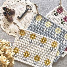 Tapestry Crochet Patterns, Crochet Potholders, Crochet Kitchen, Diy Crochet, Handmade Bags, Crochet Flowers, Crochet Projects, Knitting, Thread Crochet
