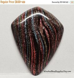 SALE 10% Off Kite Shaped Polymer Clay Designer Cabochon
