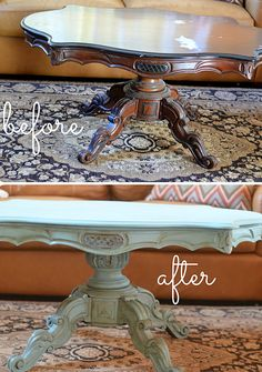 Amazing DIY Furniture Makeover Bring New Charm for Your Old Home: Painted Coffee Table Makeover ~ CHUCKFERRARO Furniture Inspiration
