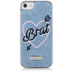 Skinnydip London BRAT iPhone Case (823.735 IDR) ❤ liked on Polyvore featuring accessories, tech accessories, slim iphone case, iphone sleeve case and iphone cover case