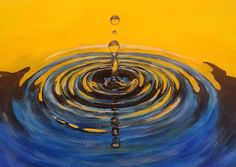 Water Drop Ripples Acrylic Tutorial by Angela Anderson on YouTube #howtopaint #water #Youtube #angelafineart #acryliconcanvas