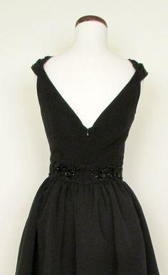 4d145d11 Audrey Black Beaded Party Dress   Catnip Reproduction Vintage Clothing  Beaded Jacket, Trashy Diva,