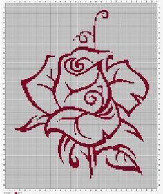 Cross Stitch Borders, Modern Cross Stitch Patterns, Cross Stitch Flowers, Cross Stitch Charts, Cross Stitch Designs, Cross Stitching, Cross Stitch Rose Pattern, Hardanger Embroidery, Learn Embroidery