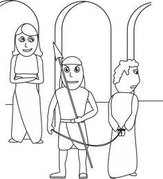 Joseph And Potiphar Coloring Page
