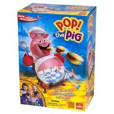 Pop the Pig® is an international preschool classic that is adored by millions of children. Kids love the suspense as they watch his belly grow; the player who makes his belly burst loses the game. Children can quickly reset this pig game with one pump of the pig's head and experience consistent belly busting game-play each and every time. Pop the Pig provides hours of fun and is completely kid powered (no batteries needed). For added convenience, all pieces can be stored inside t...