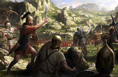 Viriato against the Romans by wraithdt.deviantart.com on @DeviantArt