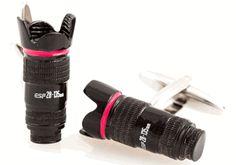 Camera Lens Cufflinks 35mm