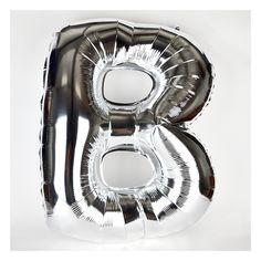 Grand ballon aluminium mylar lettre argenté