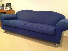 3 seat lounge sofa blue used