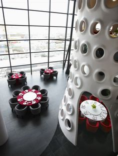 SAKO Architects designed the Honeycomb Restaurant in Shenzhen, China.