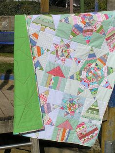 Scrappy String Baby Quilt | Flickr - Photo Sharing!