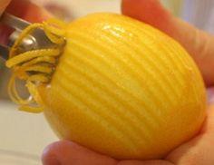 zest a lemon