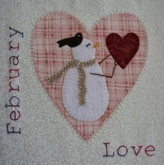 Patchwork Allsorts: February Snow Happy Heart Block