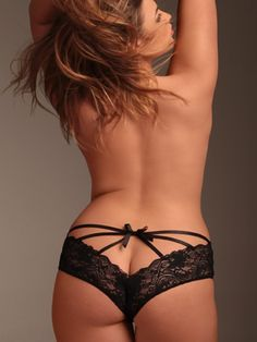PLUS-SIZE-PANTIES Womens Plus Size Panties for full figured women sizes 12W to 44W http://www.planetgoldilocks.com/plus-size-panties.htm #PlussizePanties Caged Back Lace Plus Size Panty
