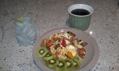 Roasted Veggie Scramble, Kiwi, & Vat of Coffee! Not a vodka tonic on ...