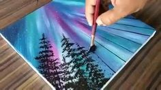 Discover recipes, home ideas, style inspiration and other ideas to try. Acrylic Painting Lessons, Simple Acrylic Paintings, Watercolor Illustration, Watercolor Art, Art Mini Toile, Art Et Nature, Art Painting Gallery, Mini Canvas Art, Ecole Art