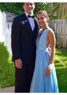 Floor Length V Neck Blue Sleeveless A Line Chiffon Ruched Homecoming Prom Dresses