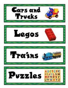 Toy Storage Labels C Pdf Stuff To Print Pinterest