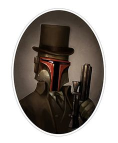 World Famous Design Junkies » Star Wars Portraits : Victorian Style