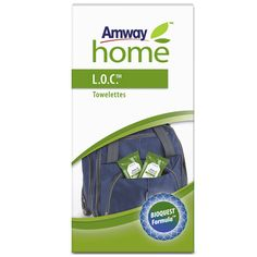 Toallitas Limpiadoras L.O.C.™   Amway  Prácticas toallitas para llevar en un cómodo envase con cierre para limpiar rápida y eficazmente allí donde se necesite. Están impregnadas con Limpiador Multiusos L.O.C. y son ideales para derrames accidentales y para llevar en bolsos, carteras, guanteras, etc. www.amway.es/user/beatrizrodriguez