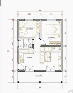 Little House Plans, Small Modern House Plans, Small House Floor Plans, Cabin Floor Plans, Small House Design, House Layout Plans, House Layouts, Small Apartment Plans, 2 Bedroom House Plans