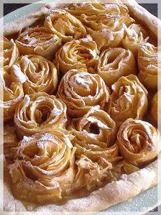 """Tarte aux pommes """"bouquet de roses"""" façon Alain Passard"""