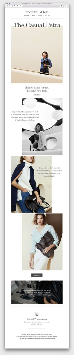 Everlane - use of white space