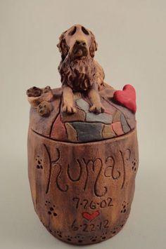 Custom Dog Urns-Any Breed. $52.00, via Etsy.