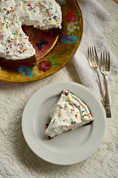 Wacky Chocolate Cake with Marshmallow Frosting (Non Dairy)