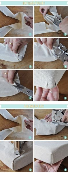 Great tutorial for how to upholster chair corners