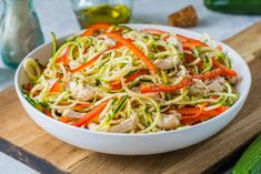 Eat Clean and Lower Inflammation with Turkey Zucchini Noodle Salad + Balsamic Vinaigrette - Clean Food Crush