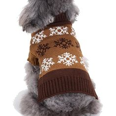 Sheng Xi Small Dog Snowflake Soft Winter Comfy Pet Sweater Knitwear Coffee S ** You can get more details by clicking on the image. (This is an affiliate link) #Cats