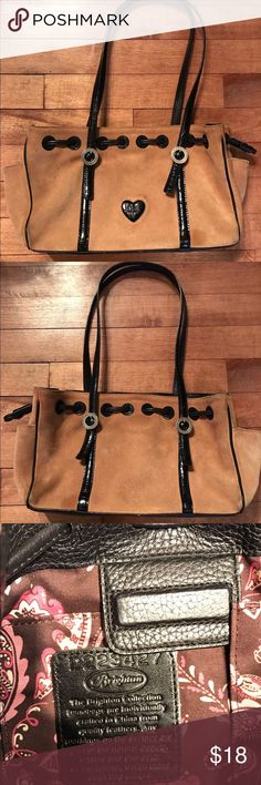 Brighton Suede Leather Tote Camel colored Suede mini tote - shows minor wear - clean lining Brighton Bags Totes