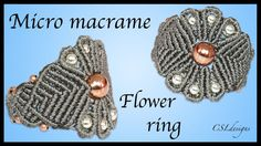In this tutorial I show you how to make a micro macrame flower ring. Please feel free to give it a go yourself and I hope you enjoy. --------------- Amazon.c...