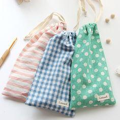 Pattern Cotton Pencil Pouch