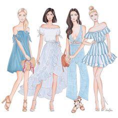 64 ideas fashion sketches dresses illustrations girls for 2019 Dress Illustration, Fashion Illustration Sketches, Fashion Sketches, Illustrations, Fashion Design Sketchbook, Fashion Design Drawings, Fashion Art, Trendy Fashion, Girl Fashion