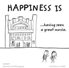 Happiness is having seen a great movie happy page last lemon lastmeon Glück ist einen guten Film gesehen zu haben