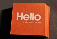 Glasgow Press for Cloud 9, Letterpress Business Card