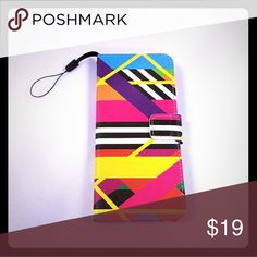 AMMA JO Samsung Galaxy S8 Phone Case Wallet You will absolutely love this fun and colorful phone case wallet! It perfectly fits your new Samsung Galaxy 8 phone and also features a detachable wristlet as well as inside slits for your credit card and an inside wallet pocket to hold cash or receipts to make your life convenient! AMMA JO  Accessories Phone Cases