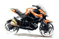 Kawasaki Sketch by Colard  #concept #art