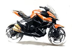 Kawasaki Sketch by Colard  #concept #art